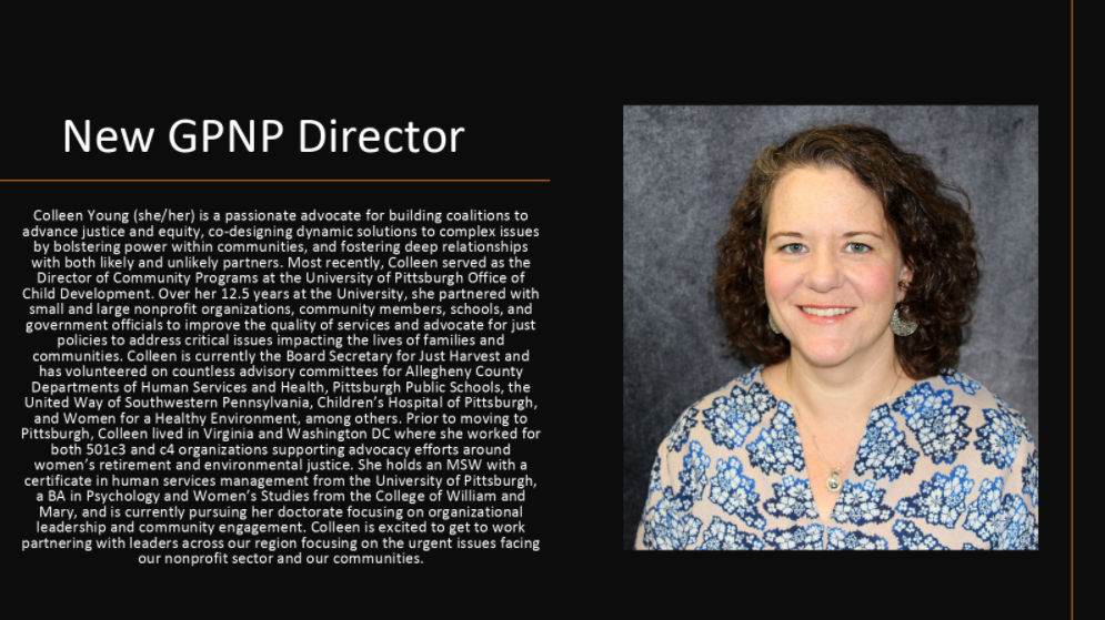 March 1st Call for Community Solutions Digest: Incoming GPNP Director and Advocacy with PANO