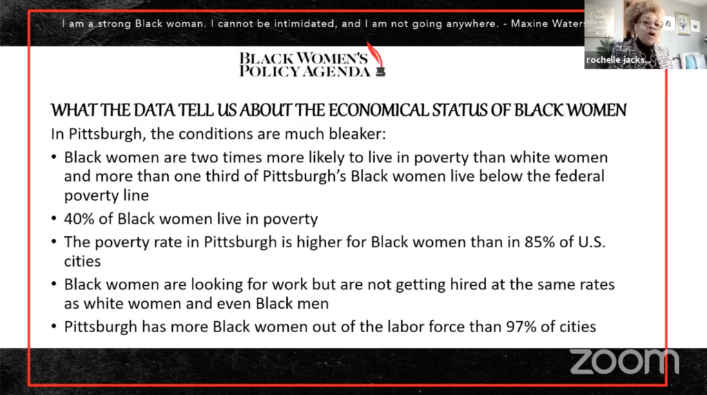 What the data tell us about the economic status of black women. For example, 40% of black women live in poverty.
