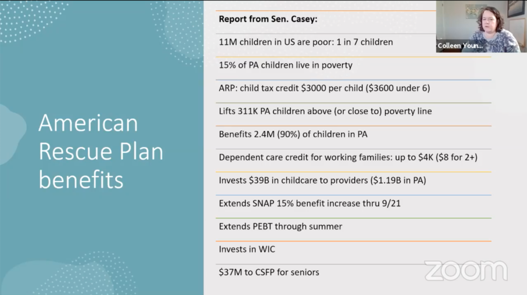 The benefits of the American Rescue Plan as documented in a report by Senator Casey and Just Harvest.