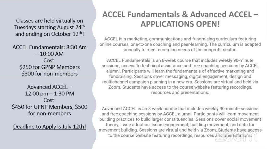 Slide for ACCEL Program