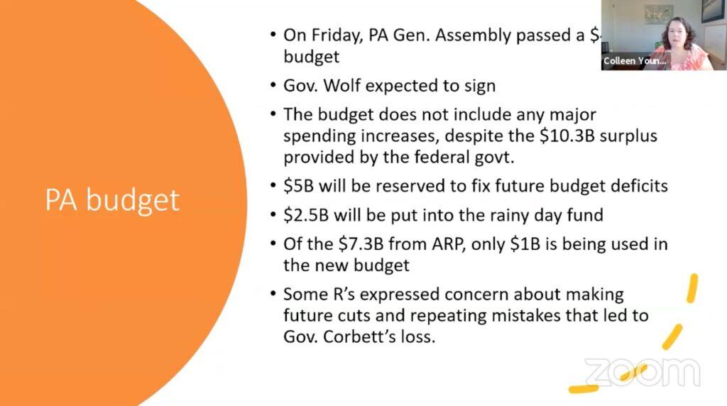 PA Budget slide.