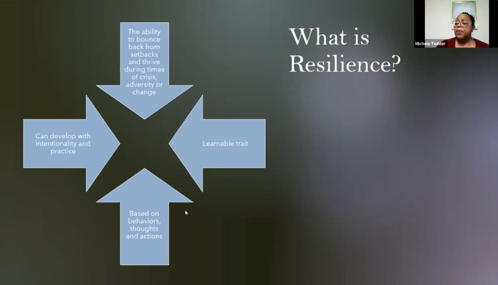 The traits that help define what is resilience slide.