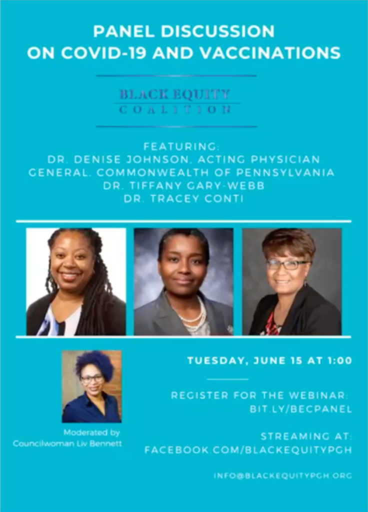 Ad for Black Equity Coalition on Covid-19 vaccination.