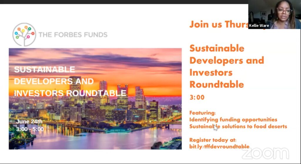Slide for sustainable developers and investors roundtable that takes place on June 24th 3:00-5:00pm.