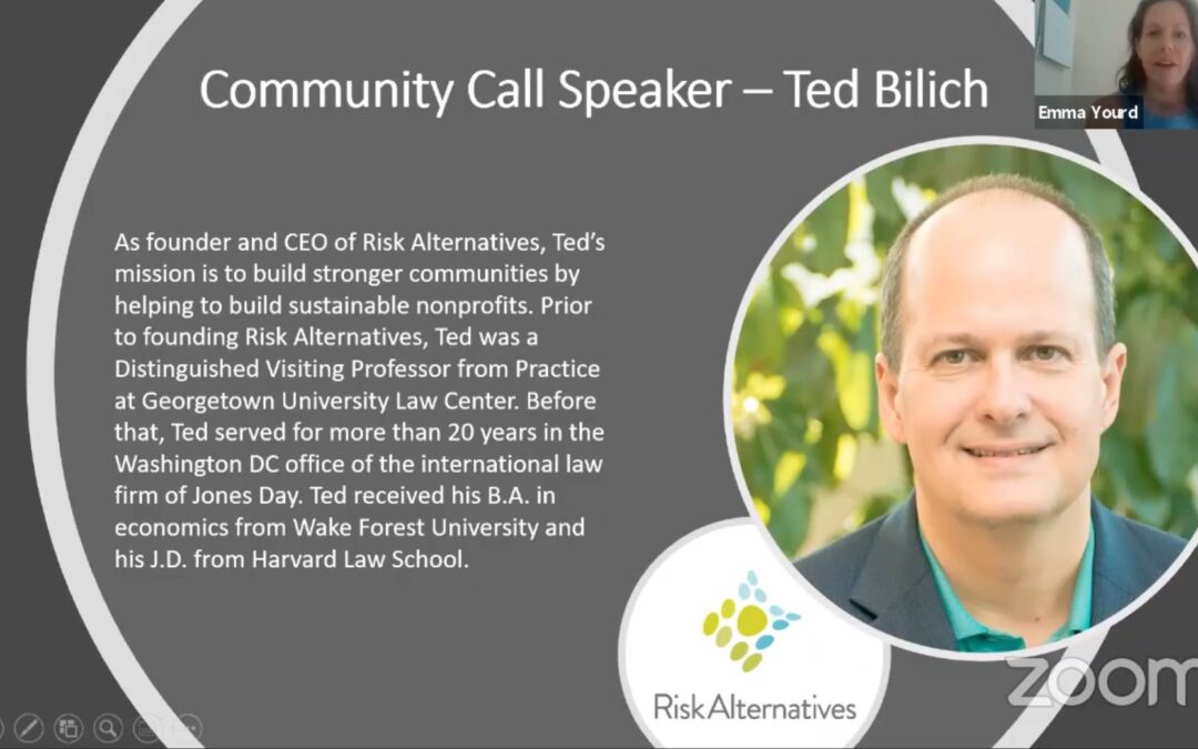 Risk Analysis for nonprofits: A Talk with Ted Bilich