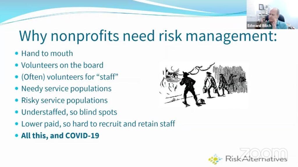 why nonprofits need risk management slide.