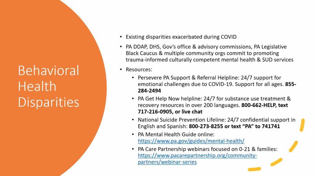 Behavioral Disparities Slide