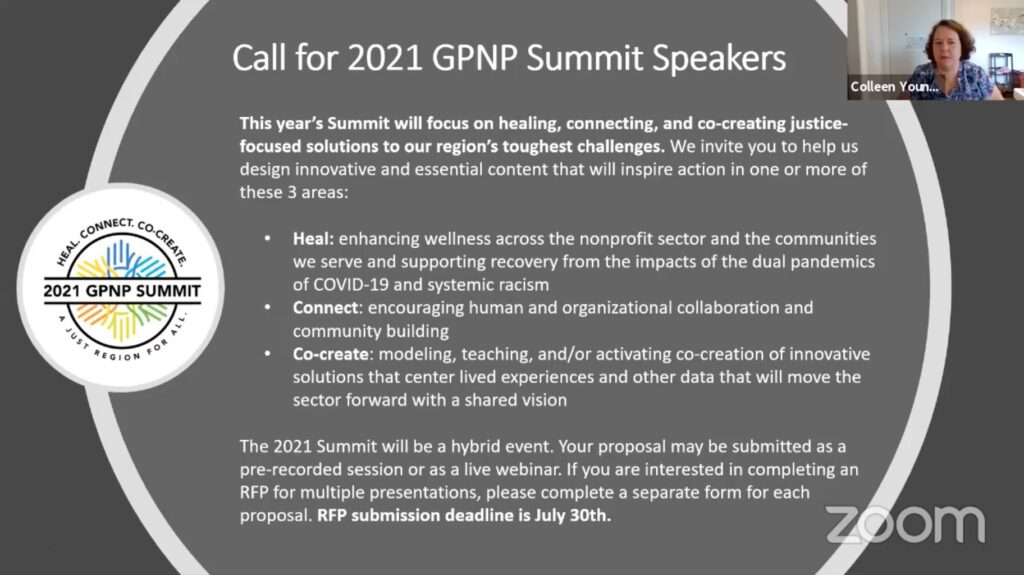 2021 GPNP Summit Call for Speakers and Presenters