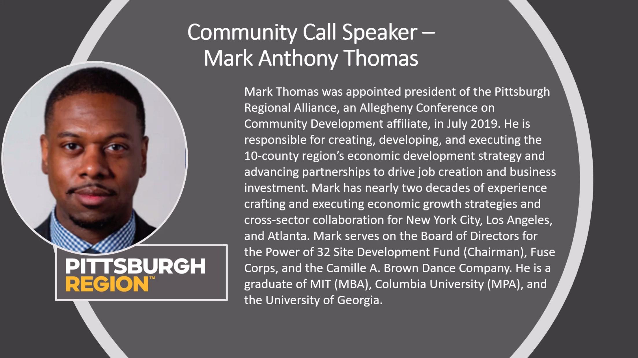 Professional Biography of Mark Anthony Thomas