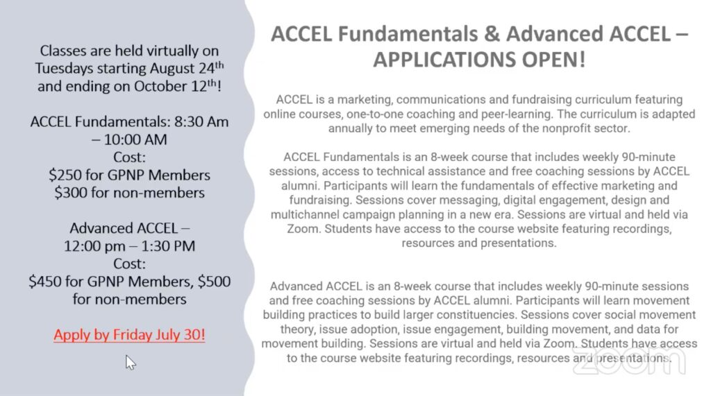 Academy for Cause and Community Engagement Leadership (ACCEL)