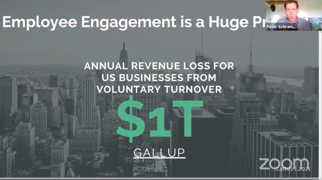 Employee Engagement is a huge problem slide