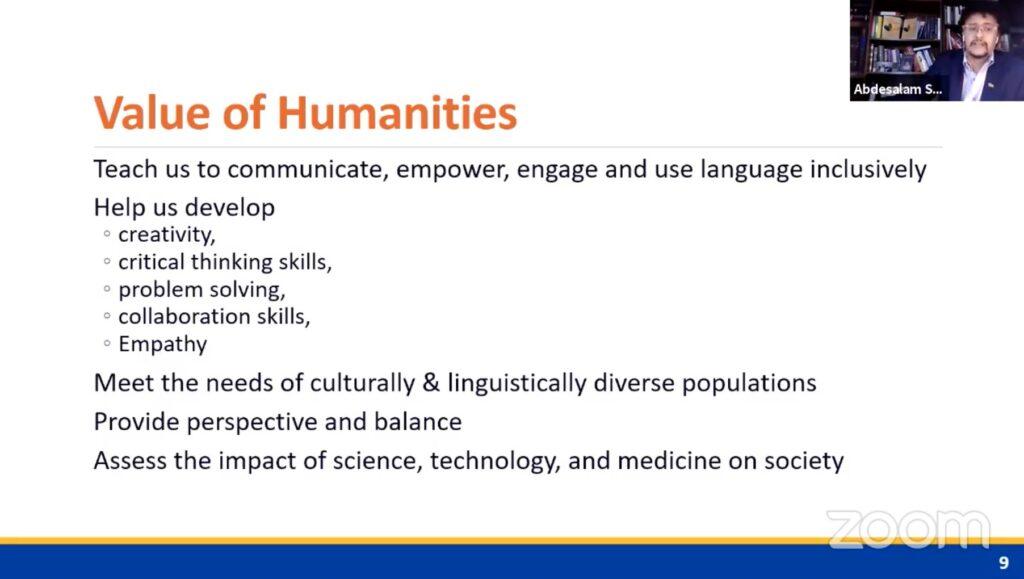 Value of Humanities Slide