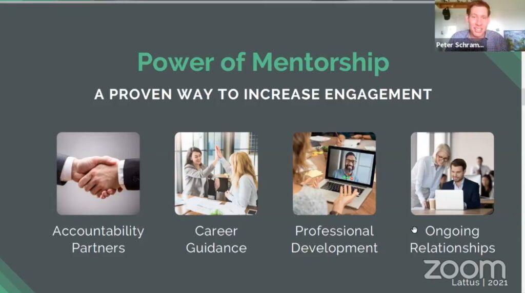 The power of mentorship slide
