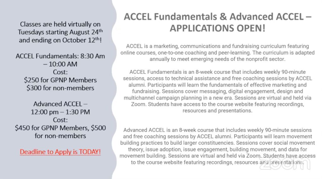 Academy for Cause and Community Engagement Leadership (ACCEL) Slide