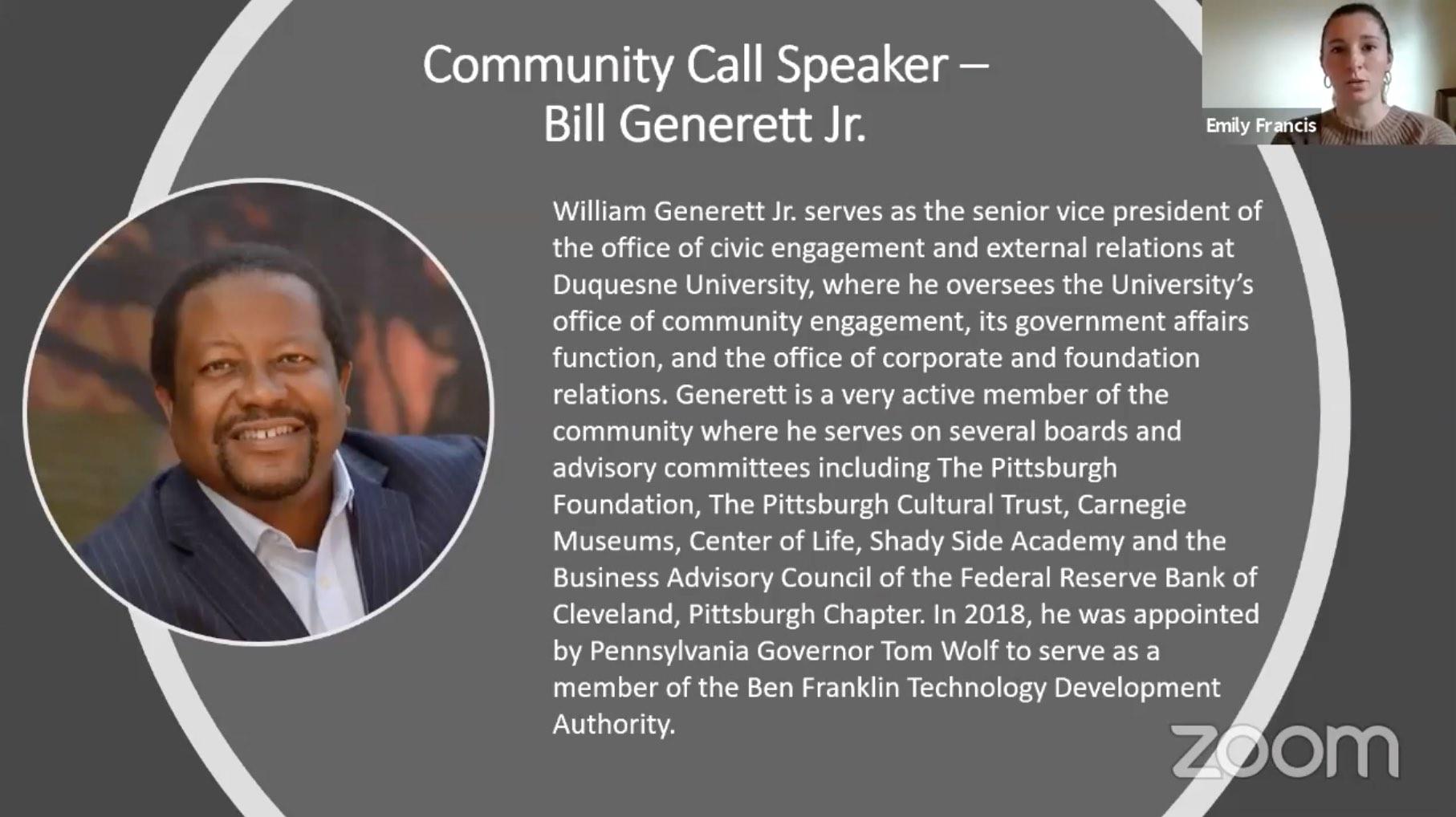 Bill Generett Professional Bio