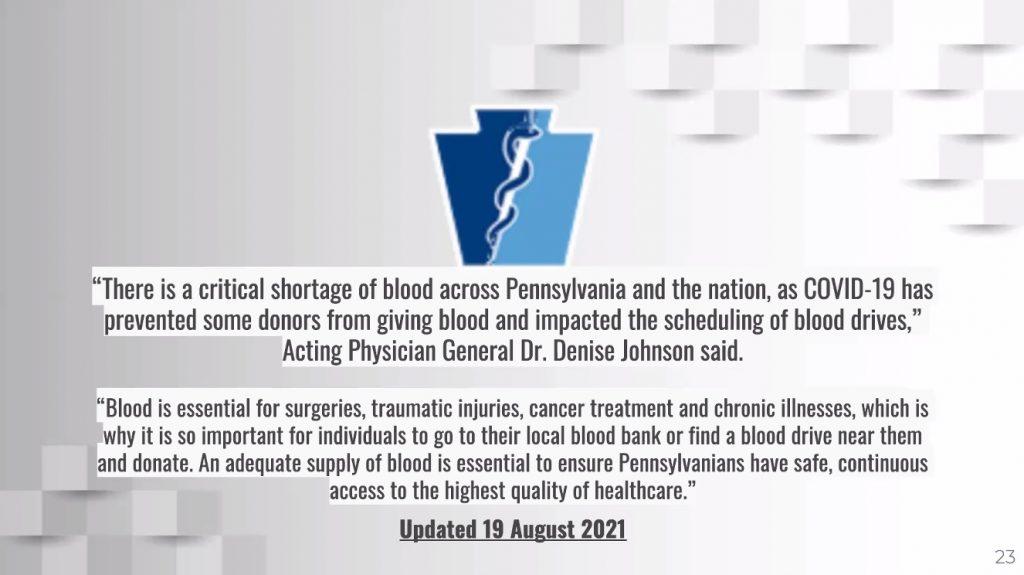 BEC Blood Donation Slide