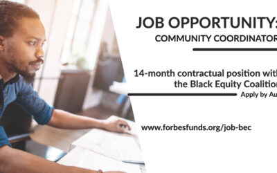 Job Opportunity: Community Coordinator Position Available for the Black Equity Coalition