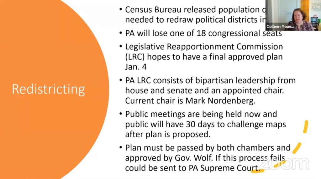 PA Redistricting and census updates