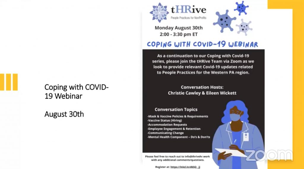 tHRive Covid-19 Webinar Slide