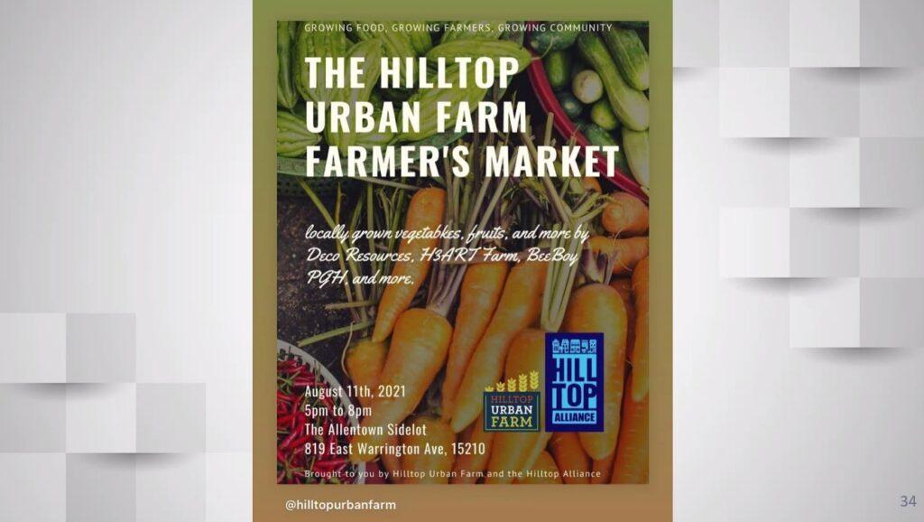 The HillTop Urban Farm Farmer's Market Slide