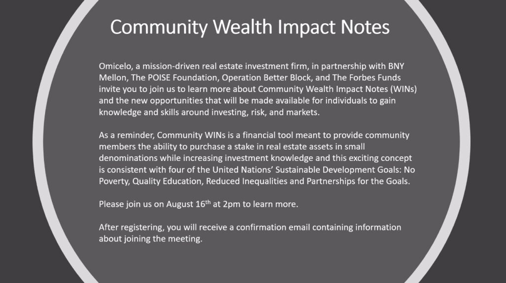 Community Wealth impact and building slide